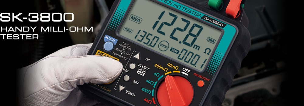 SK-3800 Handy Milli-Ohm Tester